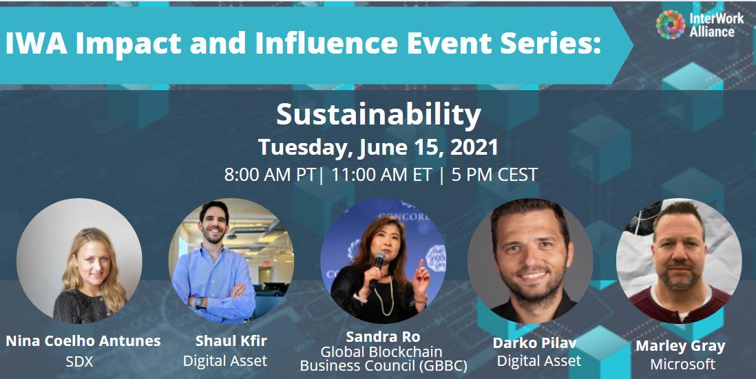 IWA Sustainability Event - June 15 2021 Speakers